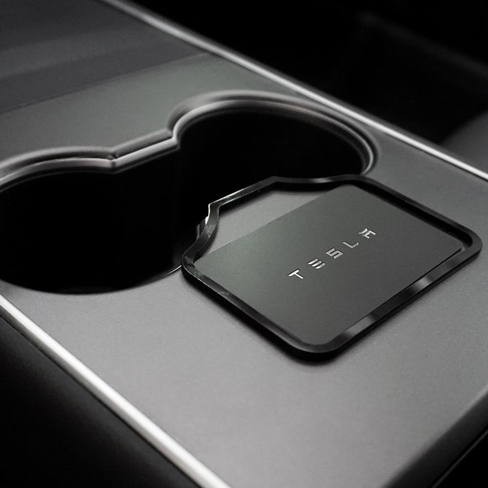 Soporte de la posición de la llave del coche para Tesla modelo 3 Key Stopper Marco de ajuste pegatina tapón limitador decoración acceso al coche