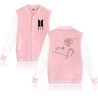 BTS KPOP Baseball Jacket Coat Winter Hoodies Men Popular Bangtan Hip Hop Harajuku Sweatshirt Women Zip