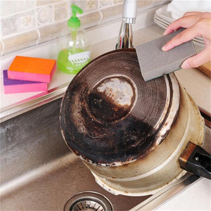Image 4 - 1 pcs 양면 듀얼 사용 나노 ceram 컬러 매직 스폰지 청소 녹 오염 제거 스폰지 무료 배송