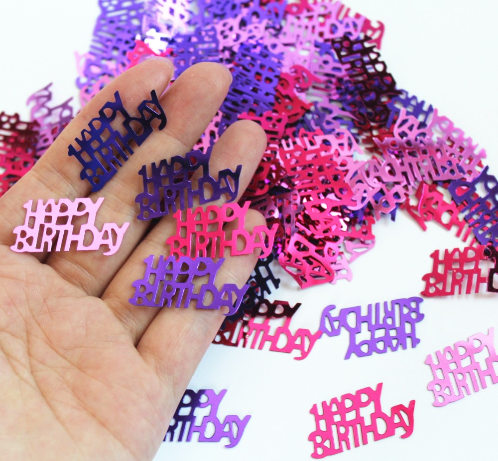 Birthday table decorations for girls - Girl Kids 1st 2nd 3rd 4th Birthday Party Table Decoration Pink Glitz Happy Birhtday Foil Sprinkles Metallic Confetti