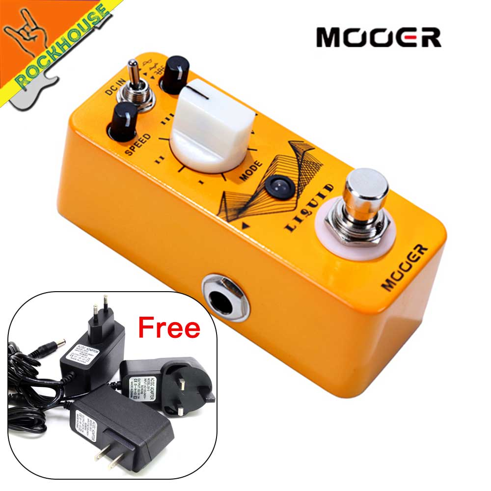Mooer Liquid Phaser Guitar Pedal Phase Guitar Effects Pedal Built-in 5 very different Phasers Effects True Bypass Free Shipping mooer hustle drive overdrive guitar effects pedal true bypass guitar pedal guitar accessories
