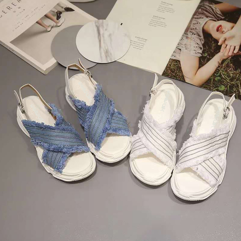 2018 Fashion Women Fisherman Mixed Colors Thick bottom Sandals Spring Autumn Summer Outside Causal Women Shoes size 34-38