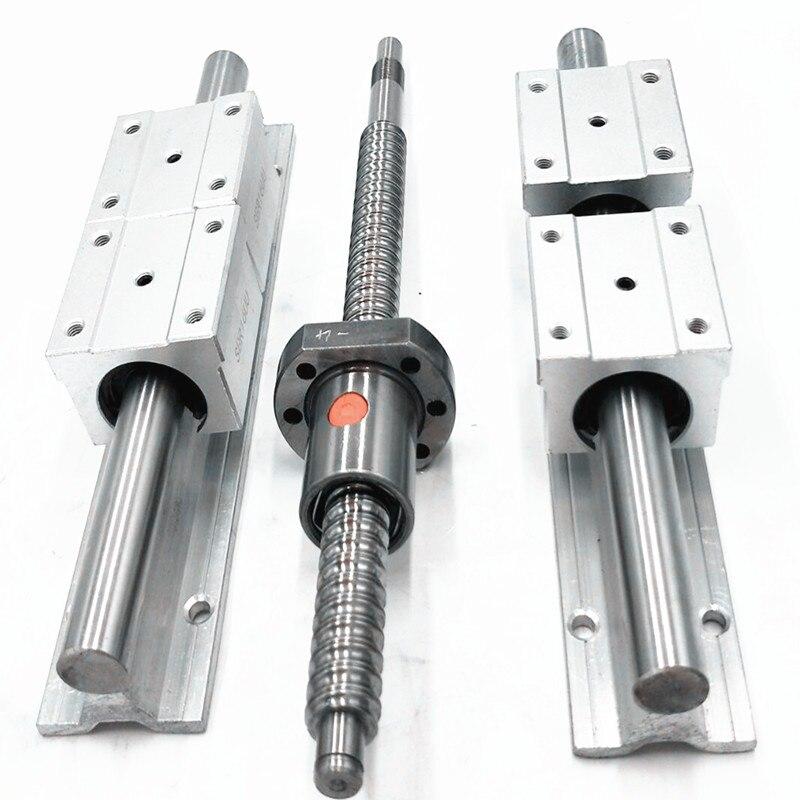 6set linear guideway Rail SBR16-330/650+sbr20-650mm+ 3 ballscrews balls screws 1605-280/620/620mm + BK12 BF12 +3 couplings 6set linear guideway rail 3 ballscrews balls screws 1605 200 500 500mm bk12 bf12 3 couplings