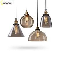 Retro Vintage Pendant Lamp Lustres Glass Lampshade Pendant Light E27 110V 220V For Dinning Room Home