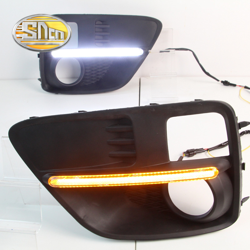For Subaru WRX 2015 2016 2017,Yellow Turning Style Relay Waterproof ABS Car DRL 12V LED Daytime Running Light SNCN