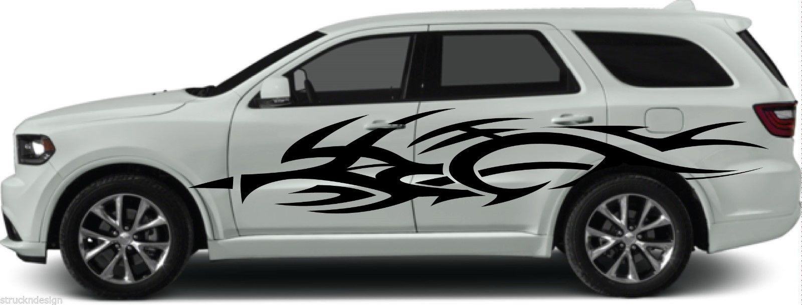 For 1set 2pcs tribal side vinyl decal sticker car truck vehicle dodge reflective camo suv van car styling