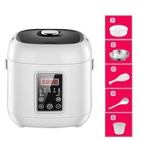 DMWD 2L Mini Home Non stick Rice Cooker 220V 5 Functions Electric Soup Pot Yogurt Cake Machine 24H Appointment For 2 People
