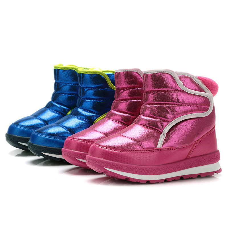 Kalupao New 2017 Children's Boots Winter Shoes Thick Sheep Fur Non-slip Waterproof Snow Boots for Girls Boys K 2016 new winter kids snow boots children warm thick waterproof martin boots girls boys fashion soft buckle shoes baby snow boots