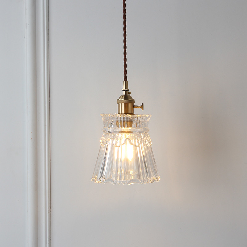 American Loft Style Pure Copper Glass Vintage LED Pendant Light Fixtures Creative Single Hanging Lamp Antique Home Lighting new portuguese laptop keyboard for lg z330 z350 z355 black portugal po keyboard