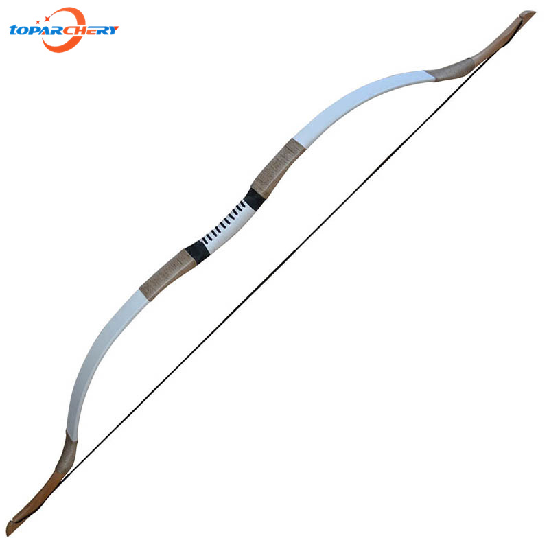 30lbs 35lbs Traditional Recurve Bow for Fiberglass Carbon Arrows Hunting Shooting Training Target Practice Wooden Long Bow