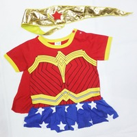 6 Months 2years Party BAby Comic Wonder Woman Halloween Costume Girl Play Clothing Super Milk Fa