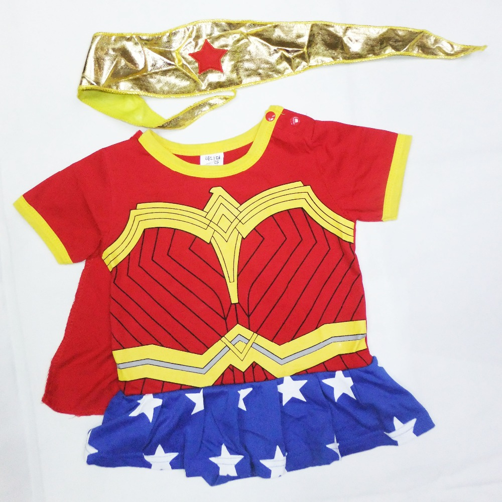 6 months- 2years Party BAby Comic Wonder woman Halloween Costume,girl play clothing / Super milk fa Bodysuits