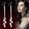 2016 novo longa seção feminina da moda coreana borla brincos de prata do parafuso prisioneiro campânula projeto mulheres dama de honra de temperamento jóias