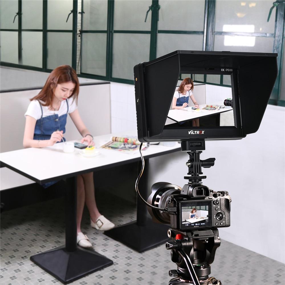 Viltrox DC-70II 7 ''TFT HD LCD 4 K caméra moniteur vidéo affichage HDMI entrée AV pour Canon Nikon DSLR BMPCC