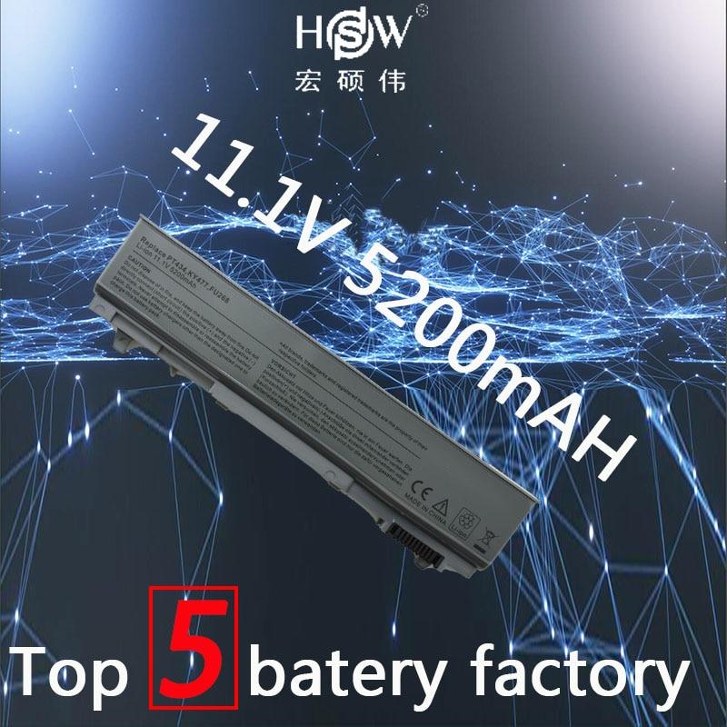 HSW Laptop Battery For Dell E6400 M2400 E6410 E6510 E6500 Laptop Battery M4400 M4500 PT436 PT437 KY477 KY265 KY266 KY268 Battery
