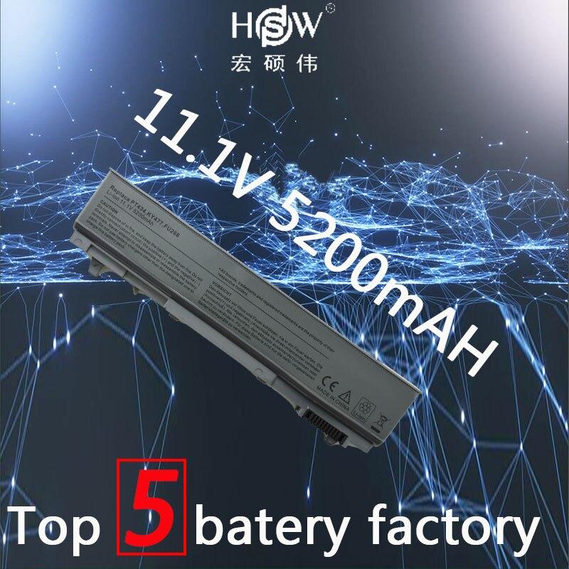 цена на HSW 5200mAh Laptop Battery For dell Latitude E6400 M2400 E6410 E6510 E6500 M4400 M4500 PT436 PT437 KY477 KY265 KY266 KY268 akku
