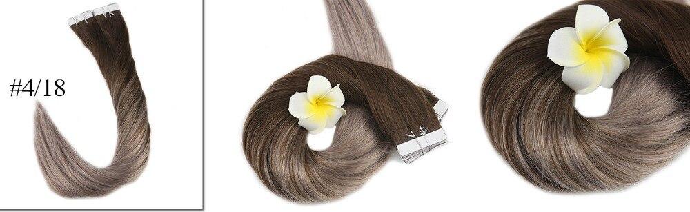 balayage fita de cabelo em extensões de cabelo marrom loira
