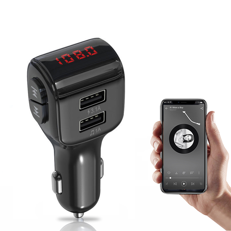 Handsfree Car MP3 Player Bluetooth FM Transmitter Auto Modulator Kits Wireless Cars Charger 3.1A LCD Dual USB Audio Accessories