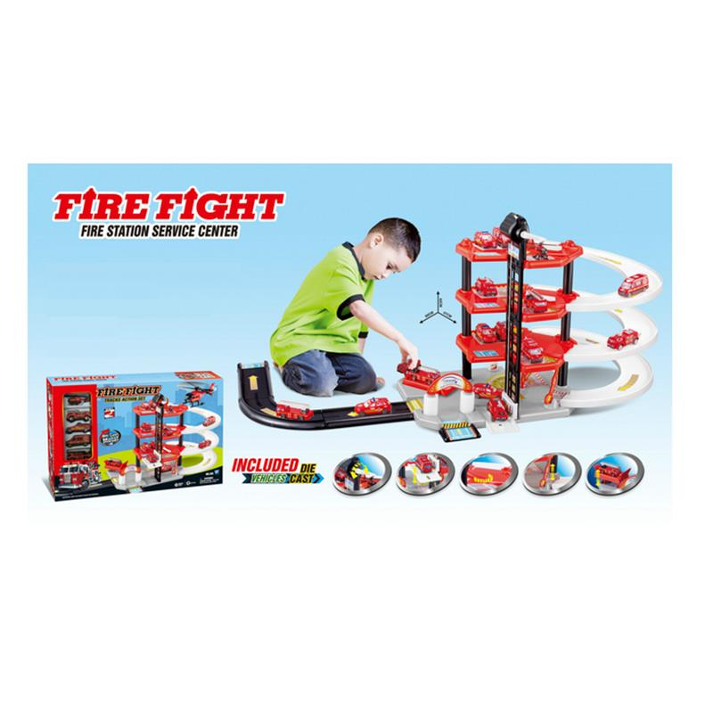 Toys Car Fireman Red Mini Model Metal Fire Fight Track Action Set Four Floors Kids Xmas Gifts Hot Sale tri fidget hand spinner triangle metal finger focus toy adhd autism kids adult toys finger spinner toys gags