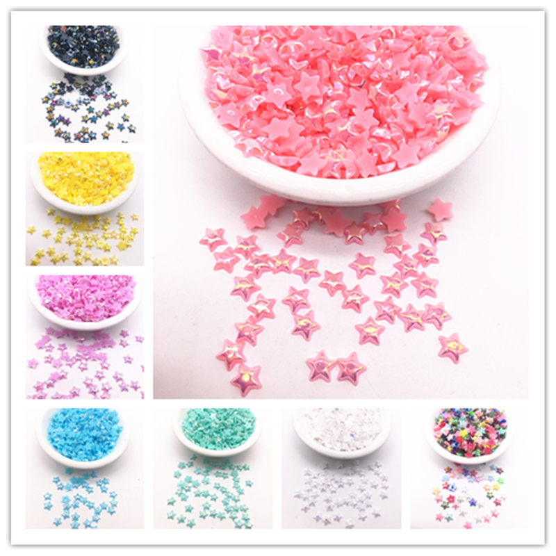 Wholesale 20 Species 6/10mm Color AB Half Pentagram Flat Back For DIY Jewelry Making Accessories