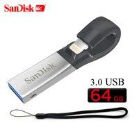 SanDisk 3.0 USB Flash Drive iXPand OTG Lightning Connector U Disk USB Stick 32GB 64GB 128GB MFi for iPhone & iPad & PC SDIX40N