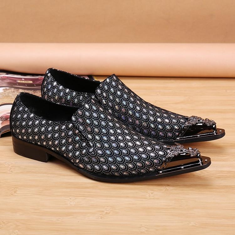 Apontado Crescente Luxo Picture Sapatos Metálico Da Mocassins Dedo Padrão De Altura Chinelos Estilo À As Mão Peixe Feitos Veludo Homem Marca Europeu YWfq0E1Uwz