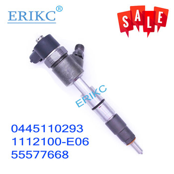 ERIKC 0445110293 Diesel Fuel Injector 0 445 110 293 Common Rail Pressure Excavator Injection 0445 110 293 for Bosch GREATWALL