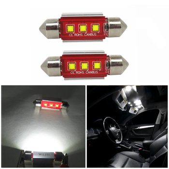 wljh 2x canbus c10w 39mm led lamp voor cree led chip 3535 led 239 272 sv85 interieur verlichting 12 v led auto lichtbron geen polariteit