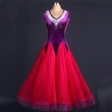 Standard Ballroom Dancing Wear Women Shiny Diamond Competition Tango Modren Waltz Ballroom Dresses