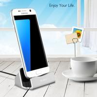 RAXFLY Mini Micro Ficha de Carregamento Suporte Para Samsung Galaxy S6 s7 Borda S5 Nota 3 4 5 J3 j7J1 j5 2017 Universal Titular Estande Destop|Suporte p/ celulares|Telefonia e Comunicação -