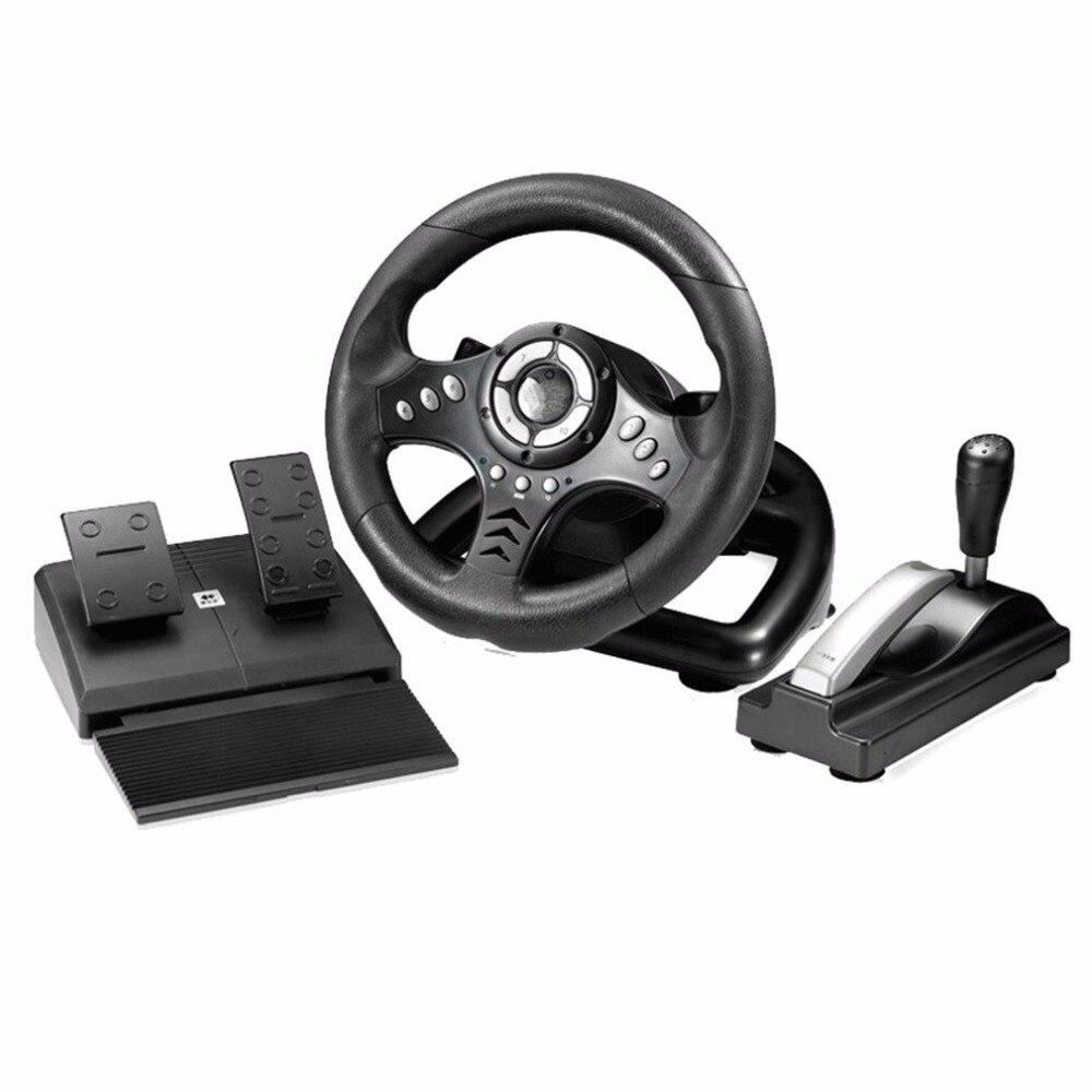 18 S вибрации Racing компьютерные игры Рулевое колесо регулировки чувствительности PC Игры Рулевое колесо моделирования Drive ...