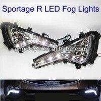 2011 2013 year For KIA Sportage R LED DRL Daytime Running Light LED Fog Light V1
