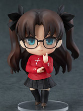 Cute 4″ Nendoroid Fate Stay Night Anime Tohsaka Rin Boxed PVC Action Figure Collection Model Doll Toy Gift #409