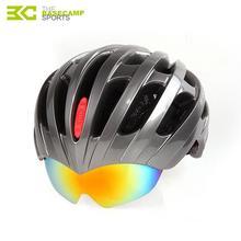 Basecamp Summer MTB Road Cycling Helmet Glasses Cover Bike Helmet 32 Vents Bicycle Helmets Goggles 3 Lens