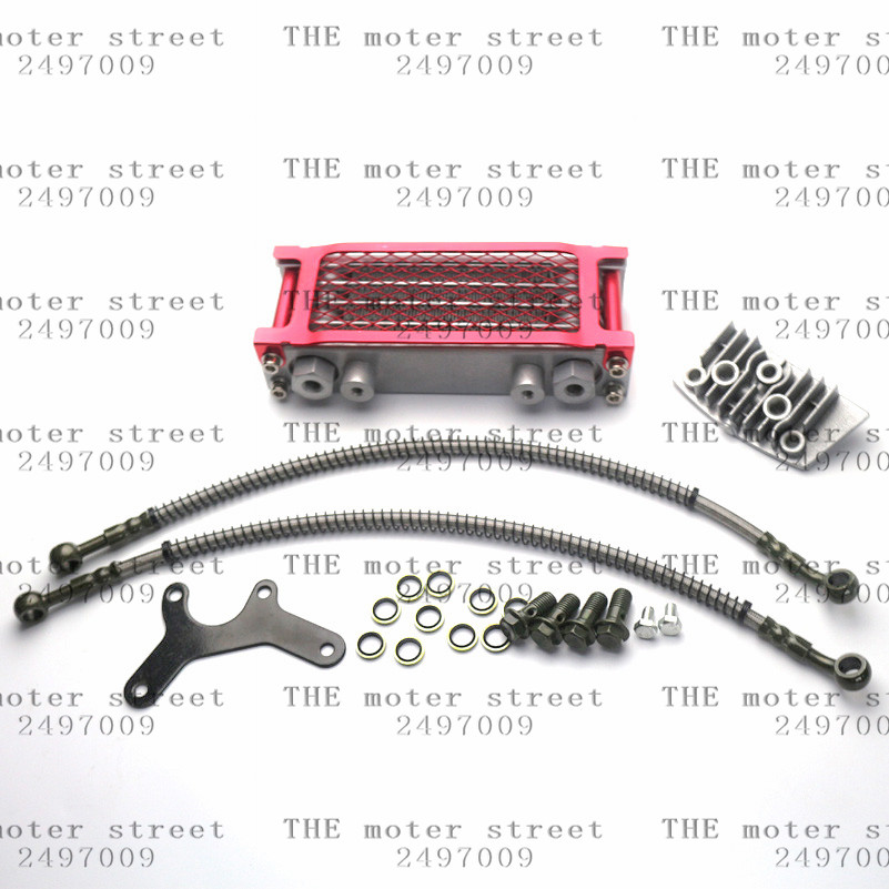 HOT SALE] free shipping red Aluminum Oil Cooler Radiator
