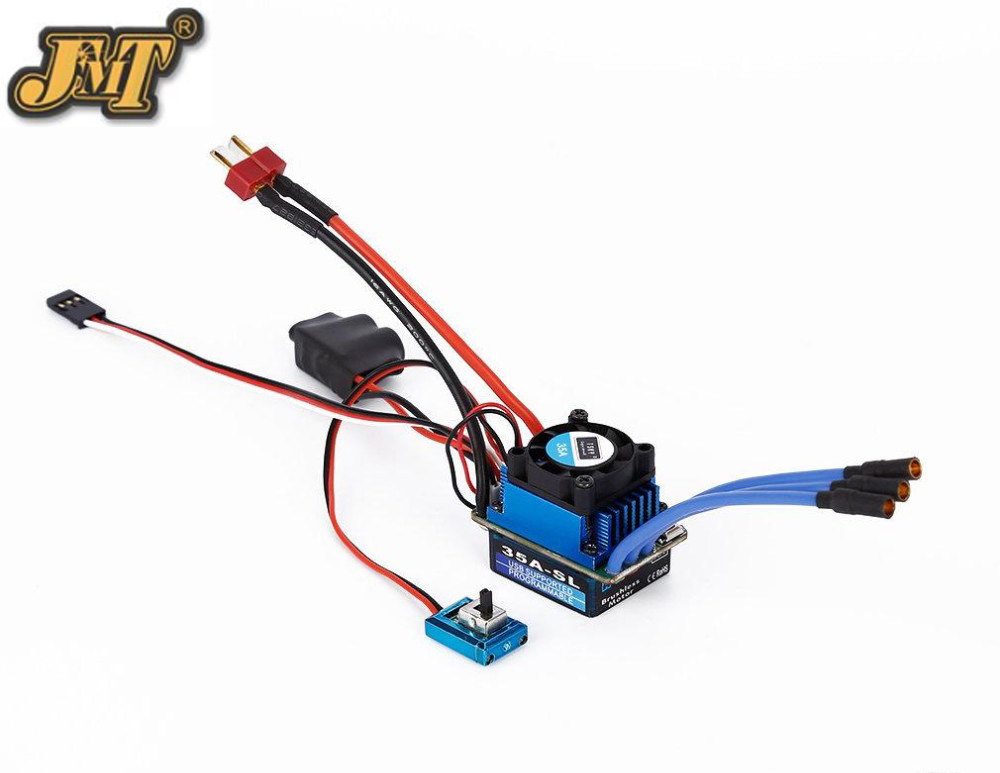 JMT 25A 35A 60A 120A SL Brushless/brushed Speed Controller ESC for 1/12 1/16 1/18 1/10 1/8 RC Car Truck Racing Car sensorless 35a brushless esc electric speed controller for rc car racing set ft