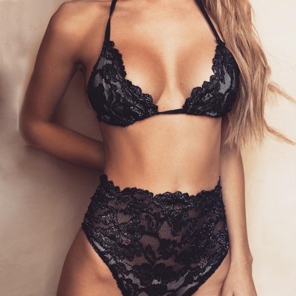 Women Sexy Bikinis Biquini Halter Top Mujer Underwear Bra -2462