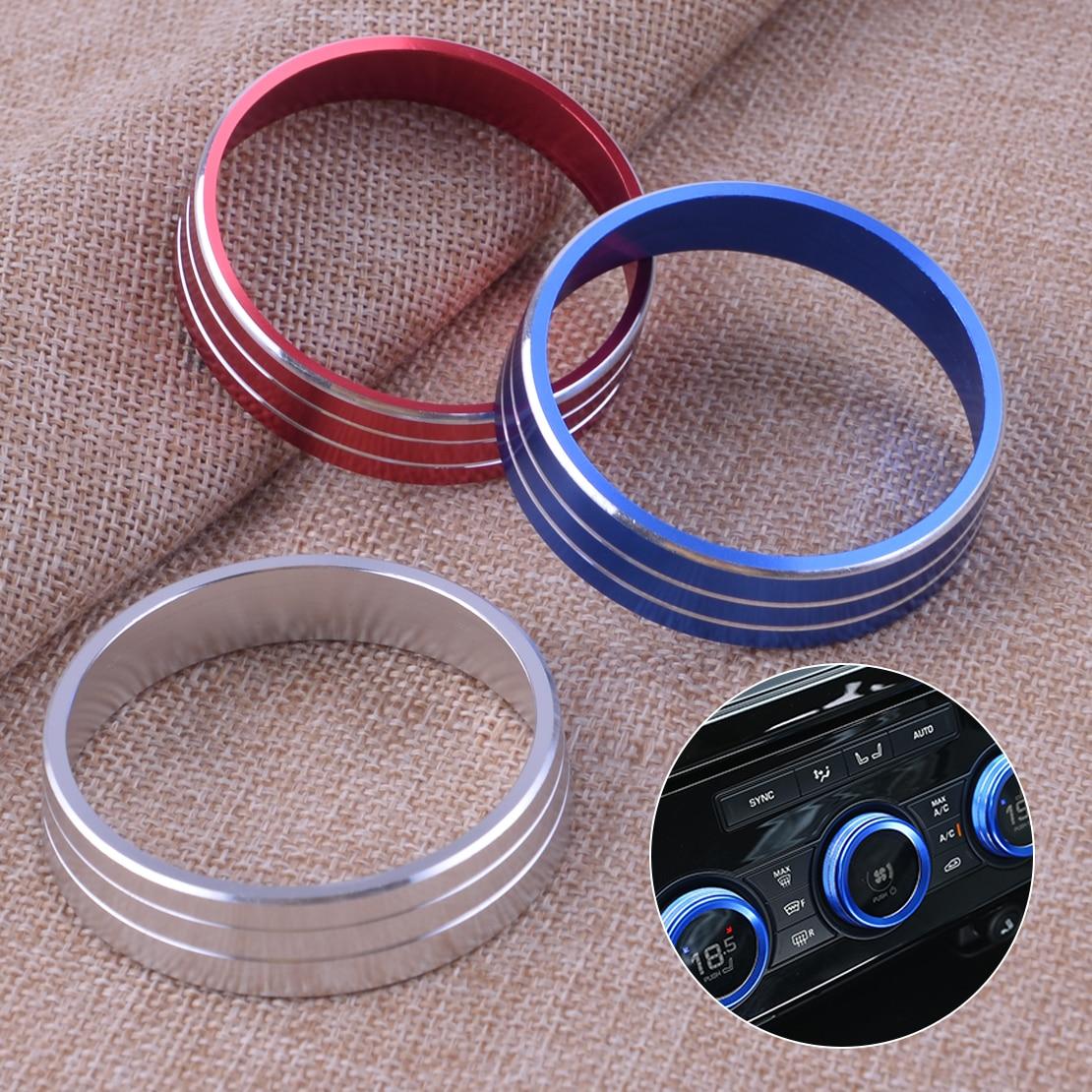 DWCX A/C chauffage panneau de commande de climatisation boutons boutons couvercle garniture anneau adapté pour Mitsubishi Lancer Outlander