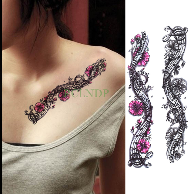Arm Flower Music Note Tattoos Pictures Wwwpicturesbosscom