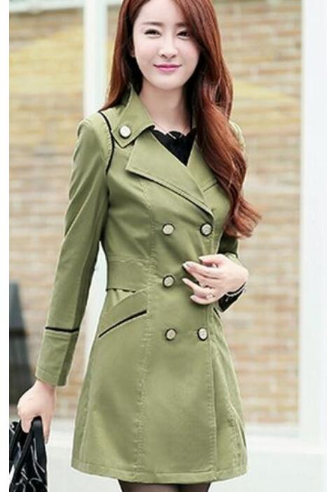 Clothing Dust-Coat Spring Korean-Edition Female Autumn Women's And The Cultivate Period