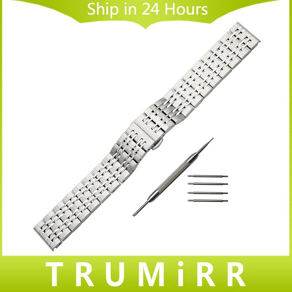Stainless Steel Watchband Butterfly Buckle Strap for Omega Seamaster Speedmaster Deville Wrist Belt Link Bracelet 18mm