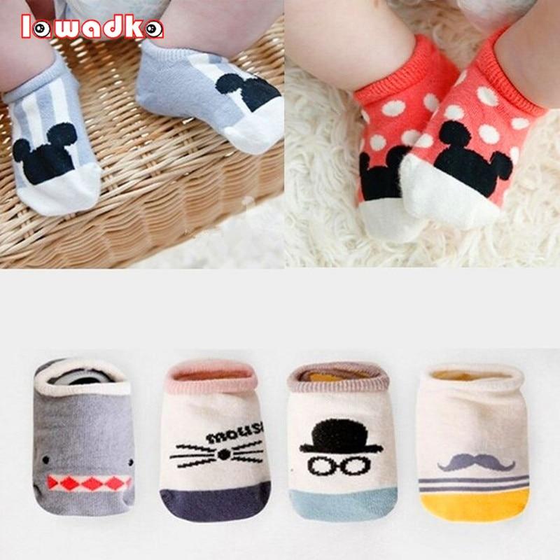 2016 New Hot Sale Cotton Cute Boys Girls Baby Socks Fashion Cartoon Soft Floor Baby Sock