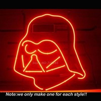 New STAR WARS DARTH VADER Neon Sign Room Art Design Decorate Restaurant Super Bright Lamp Neon