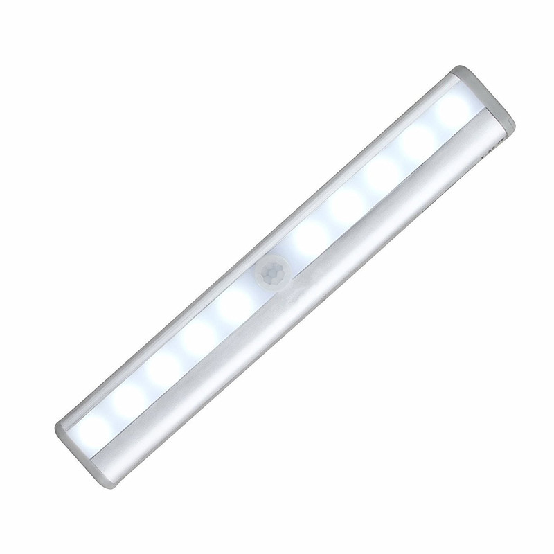 LumiParty Portable 10 LED Wireless Motion Activated Closet LED Night Light Motion Detector Sensor Closet Cabinet Light Lamp NEW