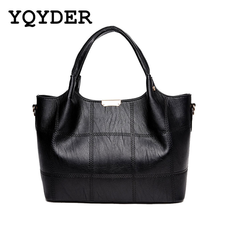 Fashion Plaid Designer Women Bags High Quality PU Leather Handbags Sac 2017 Ladies Bags Famous Shoulder Bag Bolsa Feminina Preta designer women handbags black bucket shoulder bags pu leather ladies cross body bags shopping bag bolsa feminina women s totes