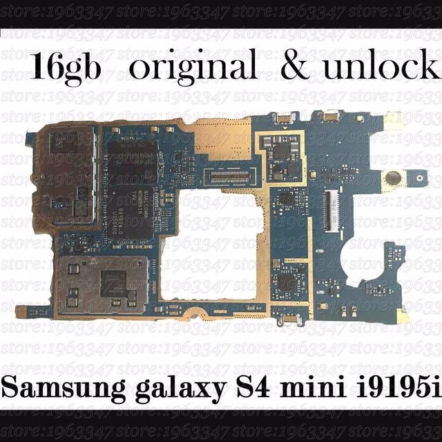 Abierto original para samsung galaxy s4 mini i9195i placa base, 100% placa base lógica mainboard de trabajo con software