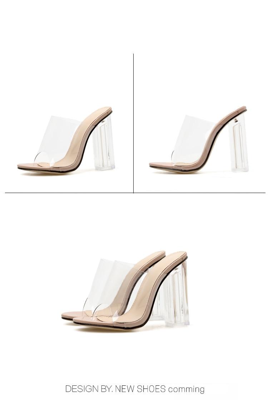 HTB1OzHwa6DuK1Rjy1zjq6zraFXaq Aneikeh New Women Sandals PVC Jelly Crystal Heel Transparent Women Sexy Clear High Heels Summer Sandals Pumps Shoes Size 41 42