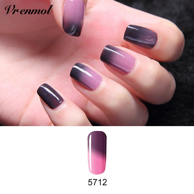 Vrenmol 1Pcs Temperature Color Changing Nail Gel Polish Long-lasting Soak-off LED UV Thermo Chameleon Gel Varnish For DIY