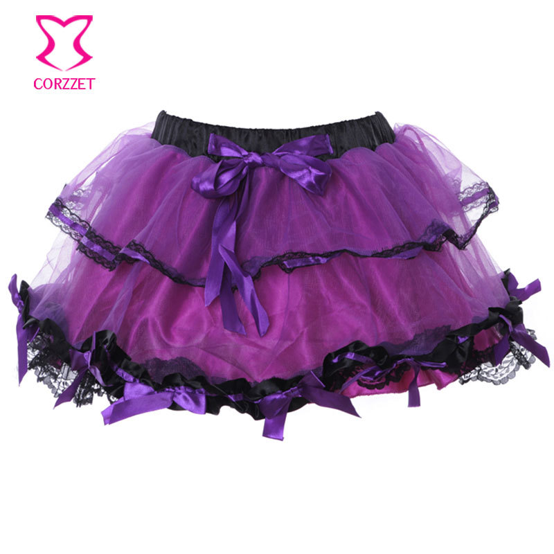 Summer Style Lolita Multilayer Lace Skirt Woman Club Party Rock Petticoat Ball Gown Sexy Tutu Skirts