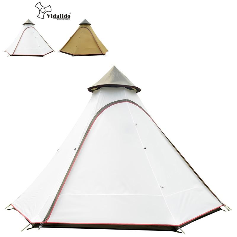 高品質超大 5 8persons 二重層インドモンゴル六角形キャンプファミリーテント大多人数屋外キャンプ  グループ上の スポーツ & エンターテイメント からの テント の中 1